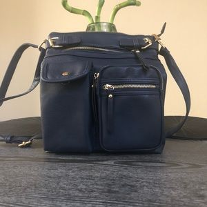 Unbranded Navy Blue Faux Leather Purse